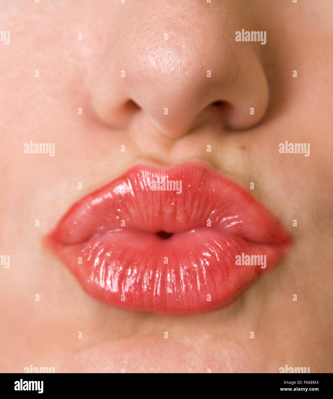 Kissing Lips Stock Photo Alamy