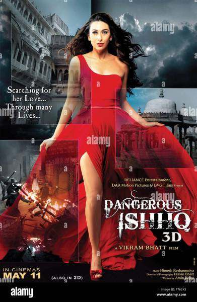 Hindi film movie poster of dangerous ishq  india  asia Stock Photo     Hindi film movie poster of dangerous ishq  india  asia