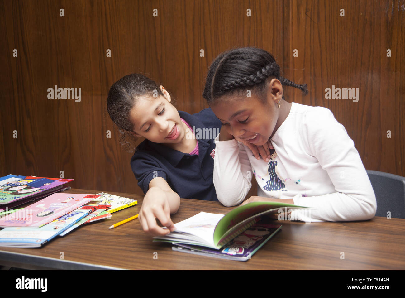 Children Study And Do Homework After School At A Community
