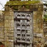 A Weathered Old Door Within The Gardens At Haddon Hall Bakewell Stock Photo Alamy
