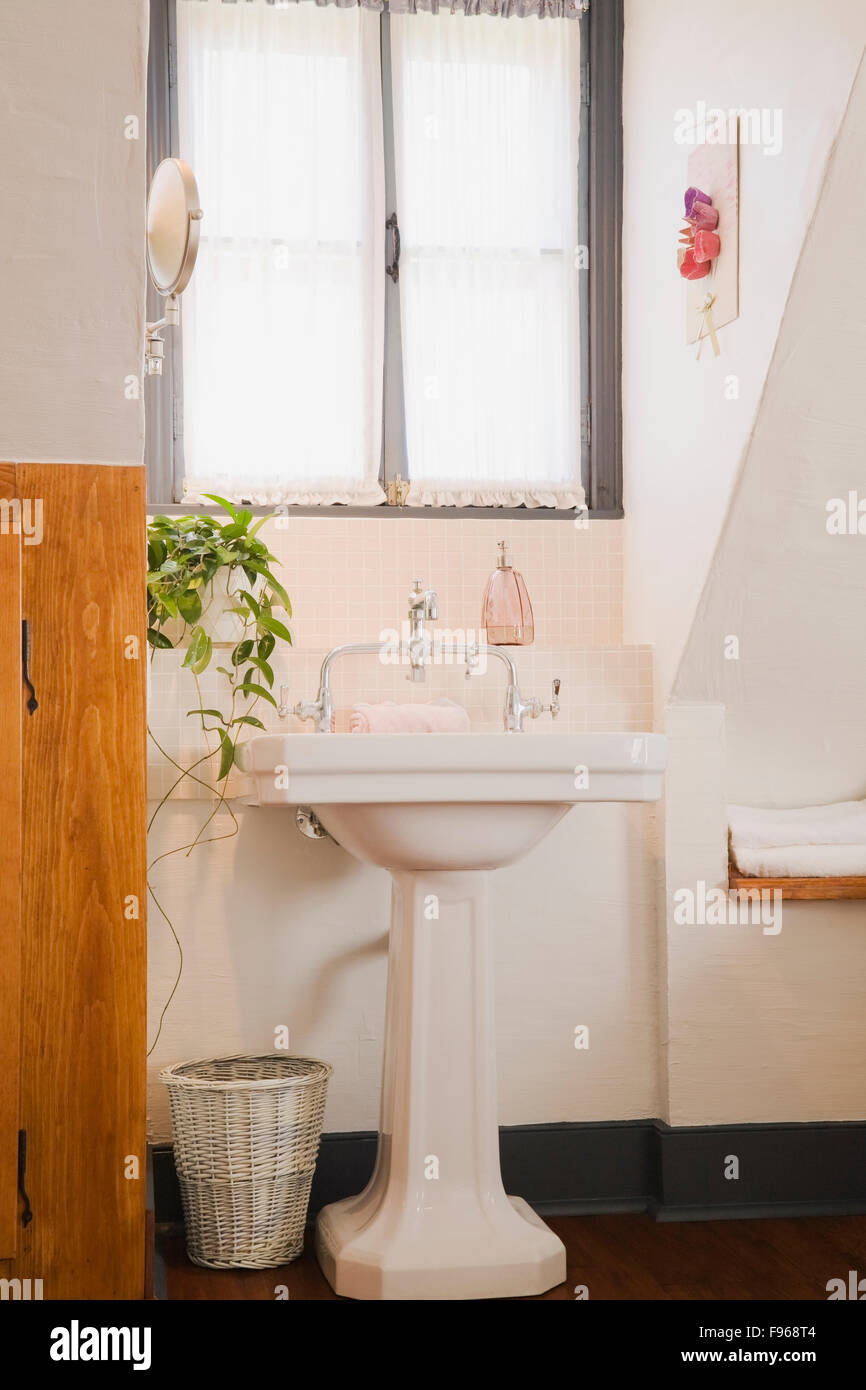 https www alamy com stock photo sink on a pedestal in the master bedroom on the upstairs floor inside 91722404 html