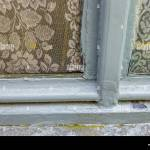 Rustic Window With Peeling Paint And Lace Curtains Brugge Belgium Stock Photo Alamy