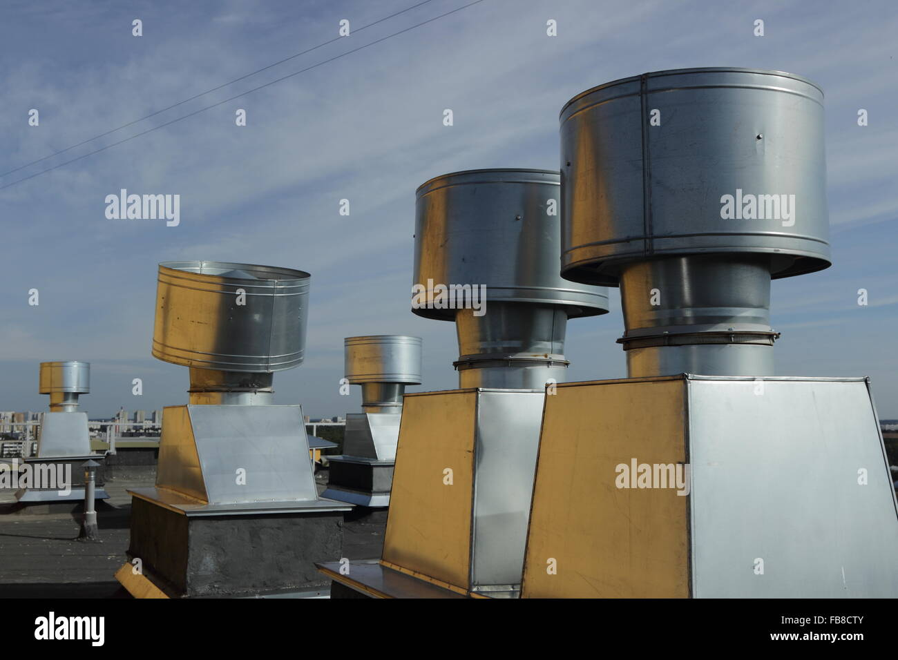 https www alamy com stock photo vent pipes on the roof of an apartment house 92998779 html