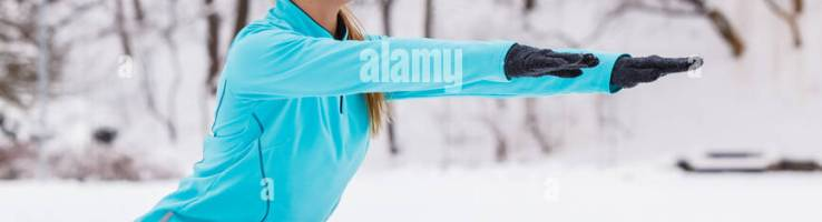 Sports And Activities In Winter Time Slim Fit Fitness Woman Outdoor Stock Photo 94683761 Alamy