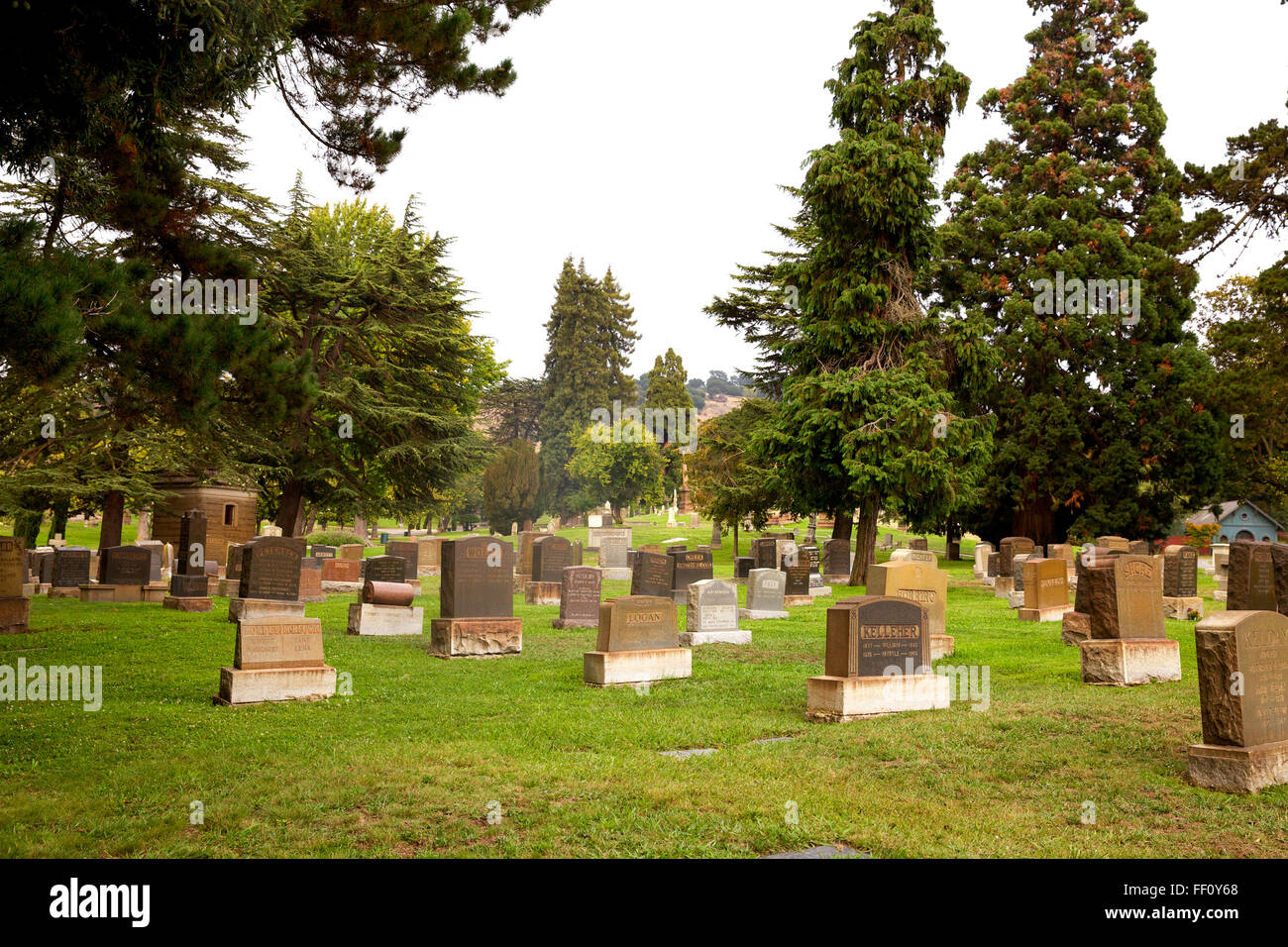 View of Mountain View Cemetery in