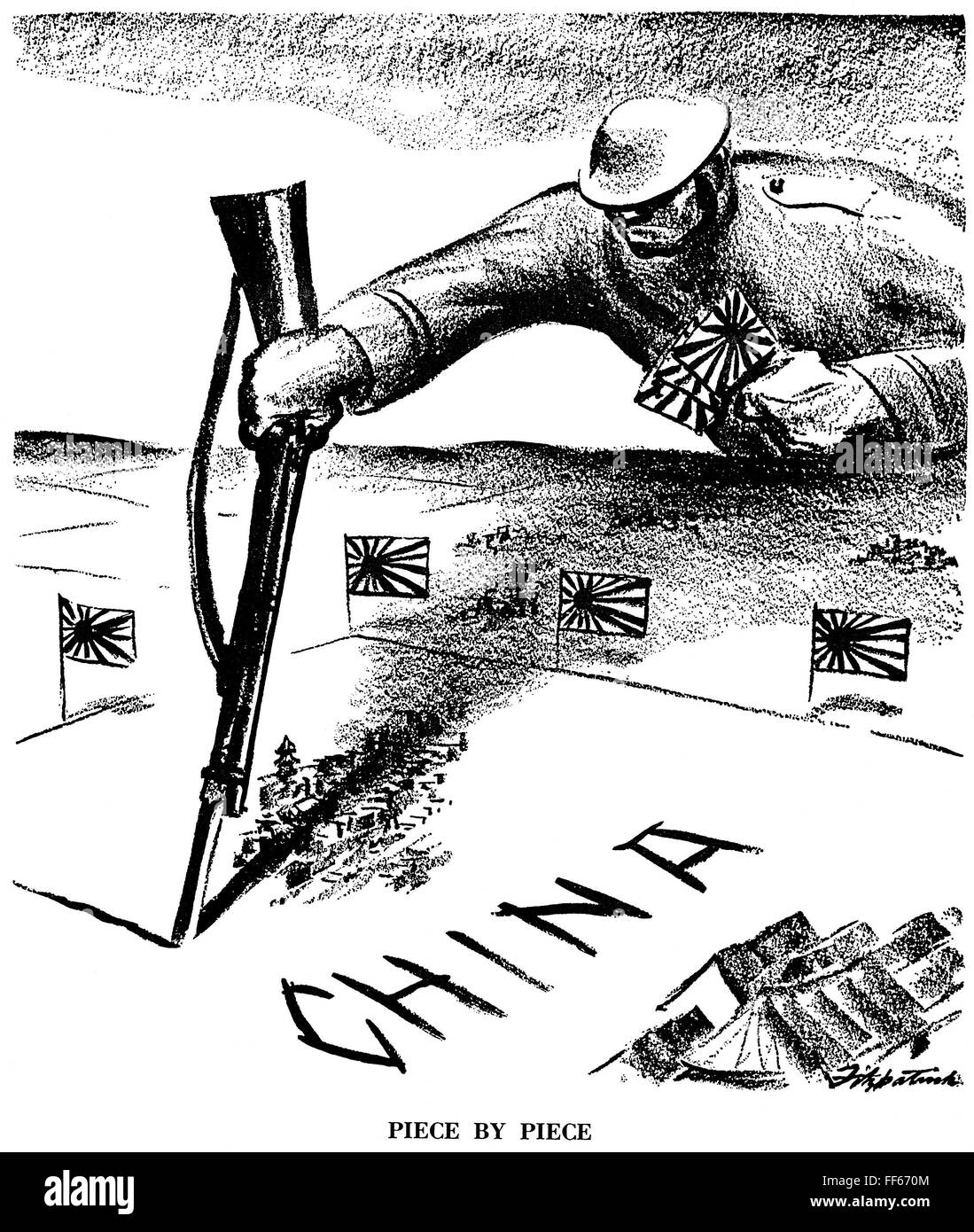 Japan Imperialism N Piece By Piece American Cartoon By Stock Photo Royalty Free