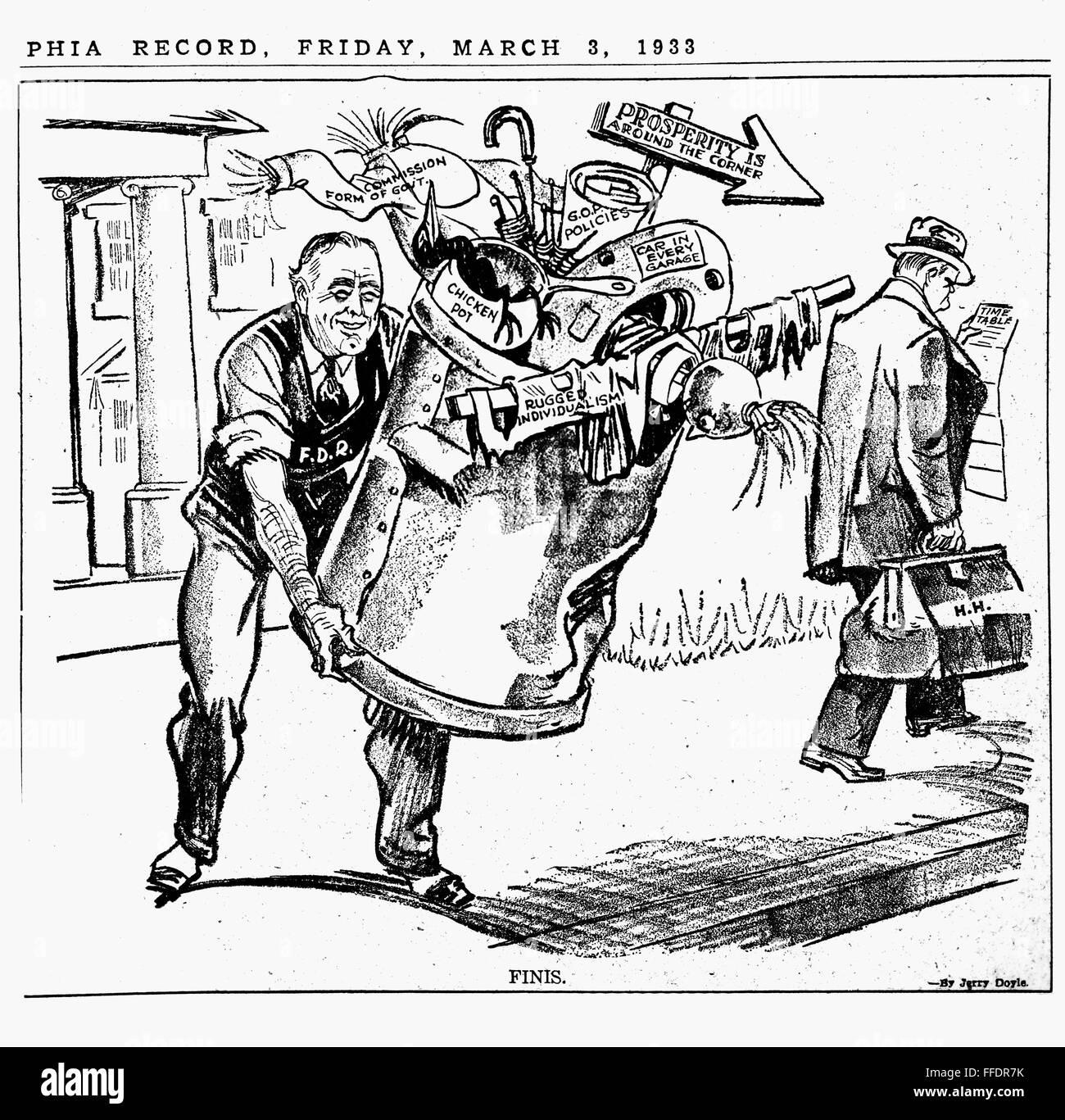 Cartoon Fdr Ncartoon Depicting Newly Elected