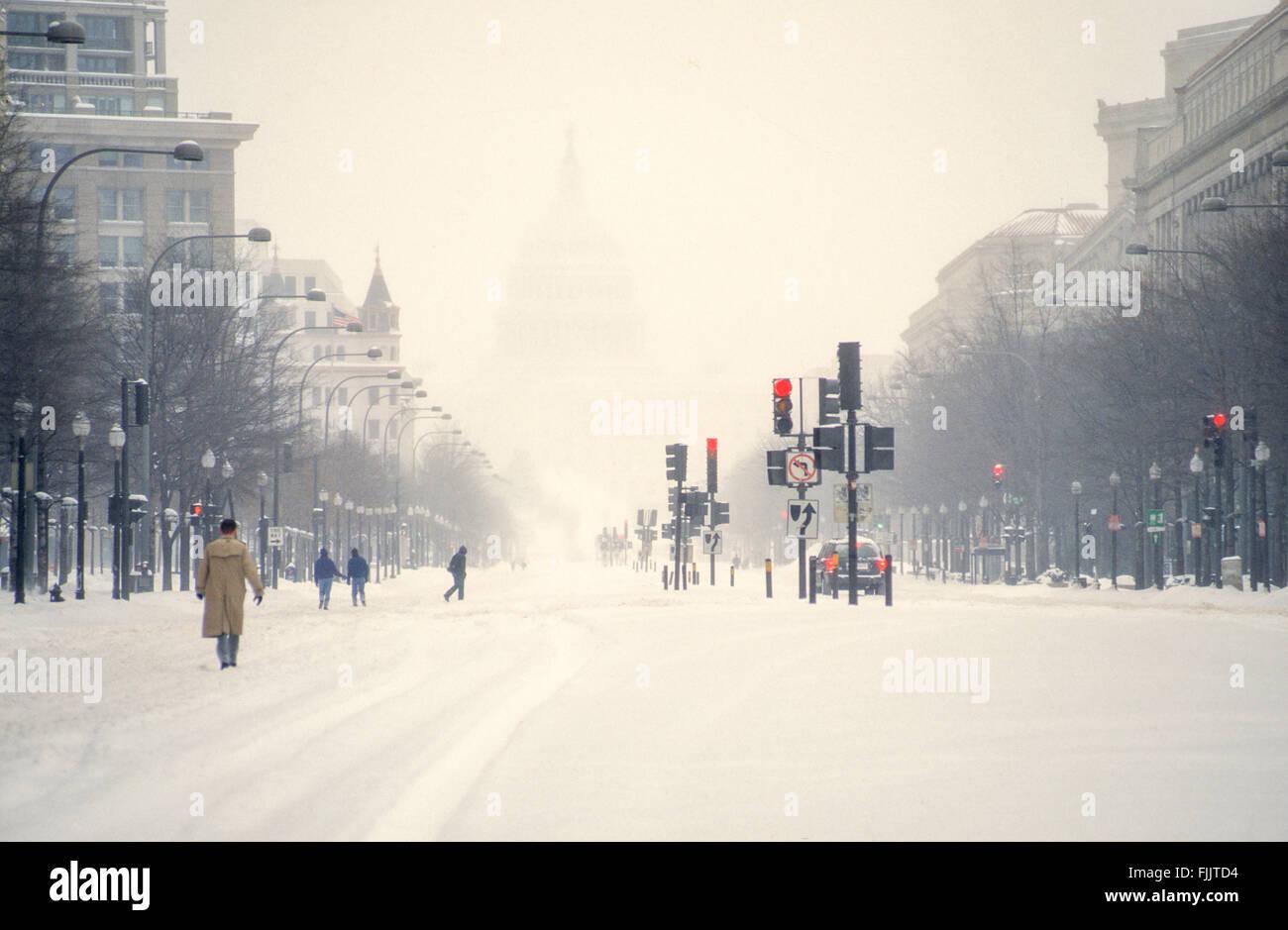 Washington, DC., USA, 7th January, 1996 The Blizzard Of