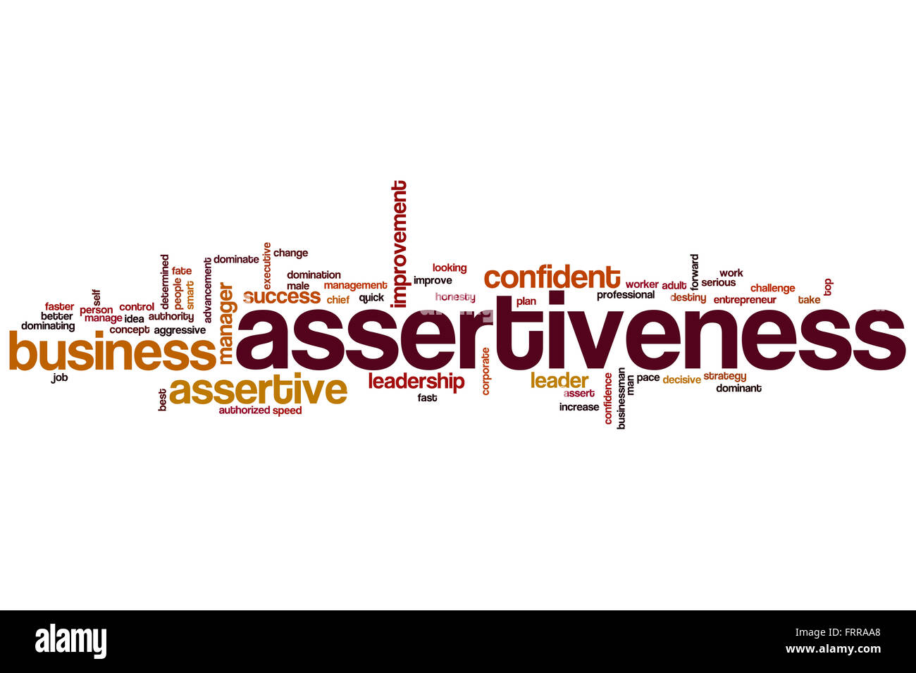 Assertiveness Word Cloud Concept Stock Photo