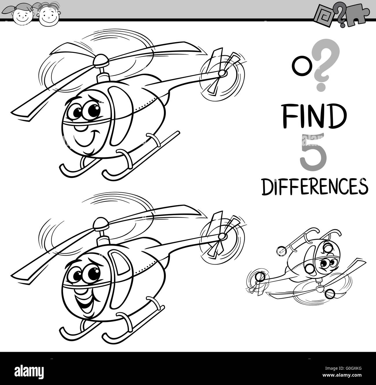 Cartoon Helicopter Black And White Stock Photos Amp Images