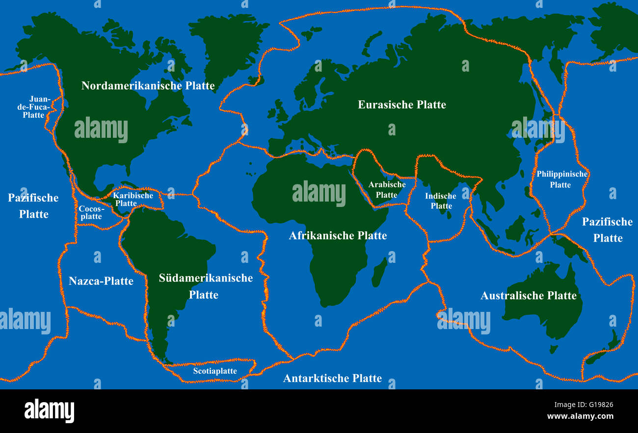 Map Of Fault Lines In The World Afp Cv