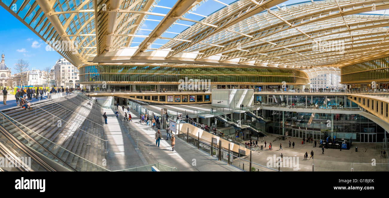 https www alamy com stock photo france paris the forum des halles canopy made of glass and metal designed 104132859 html