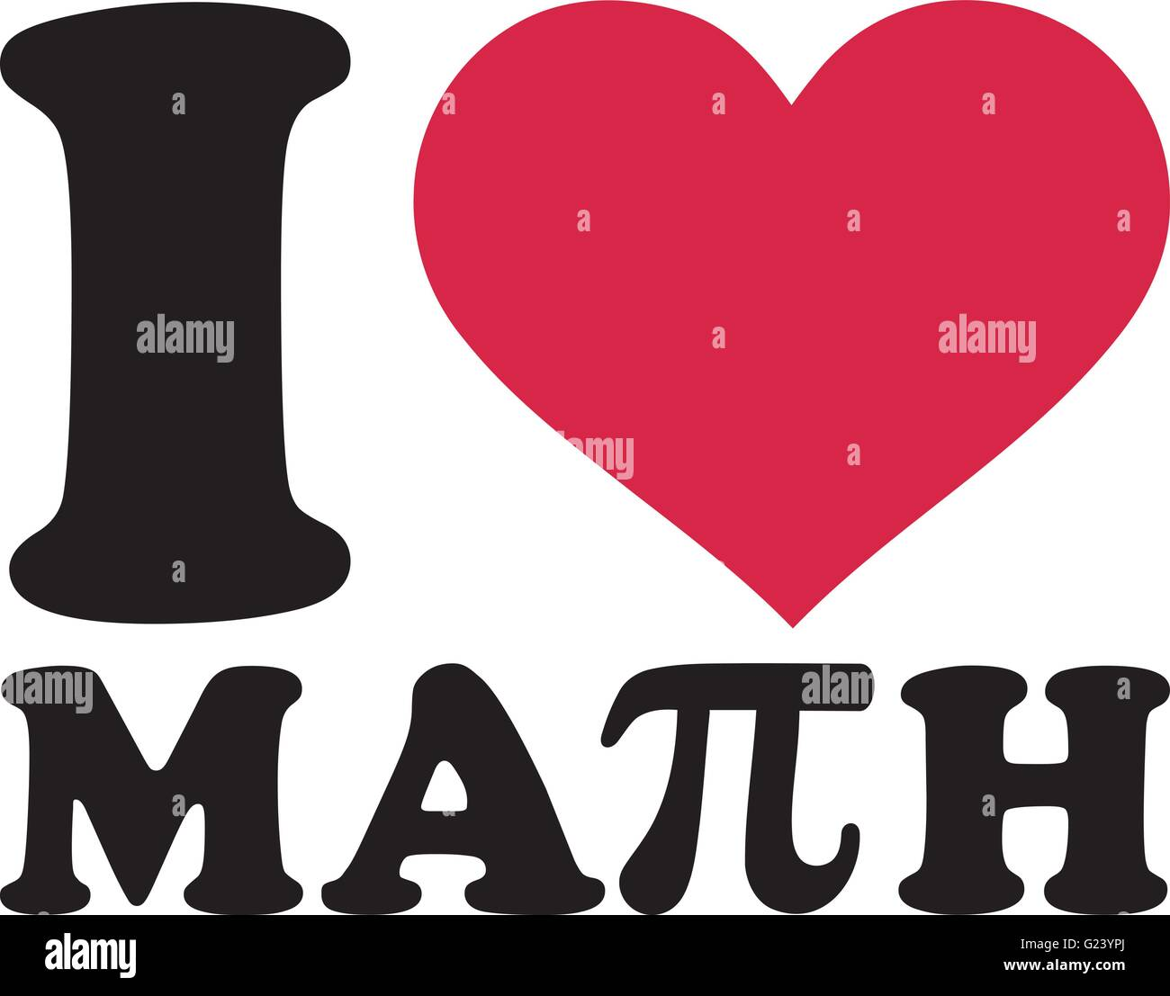 I Love Math With Pi Sign Stock Vector Image Amp Art