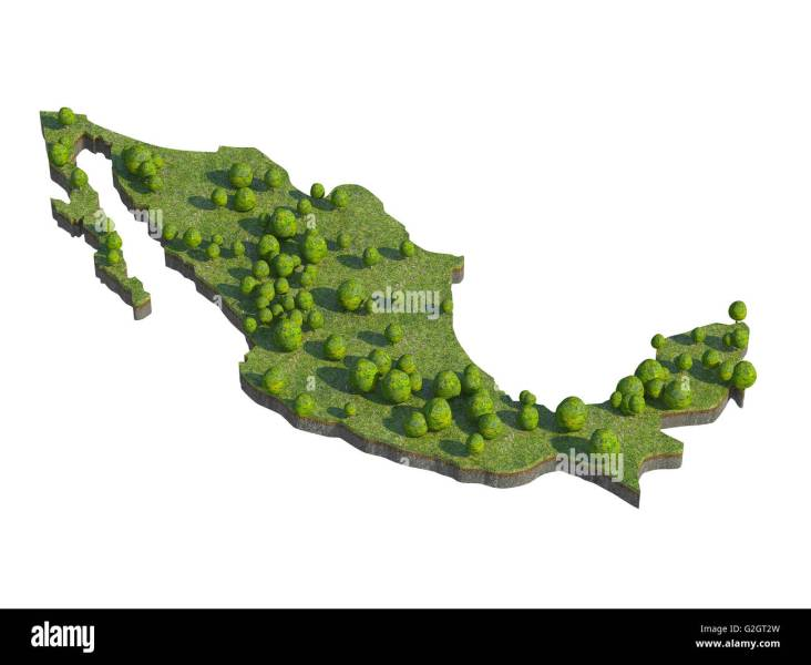 Mexico Map Stock Photos   Mexico Map Stock Images   Alamy 3d render of mexico map section cut isolated on white with clipping path    Stock Image