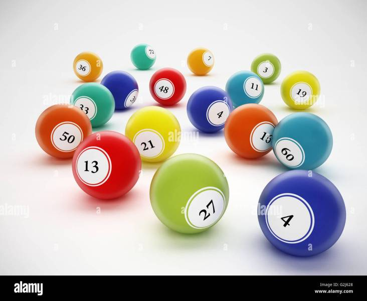 Ball Game Bingo Stock Photos   Ball Game Bingo Stock Images   Alamy Bingo balls with generic numbers  3D illustration    Stock Image