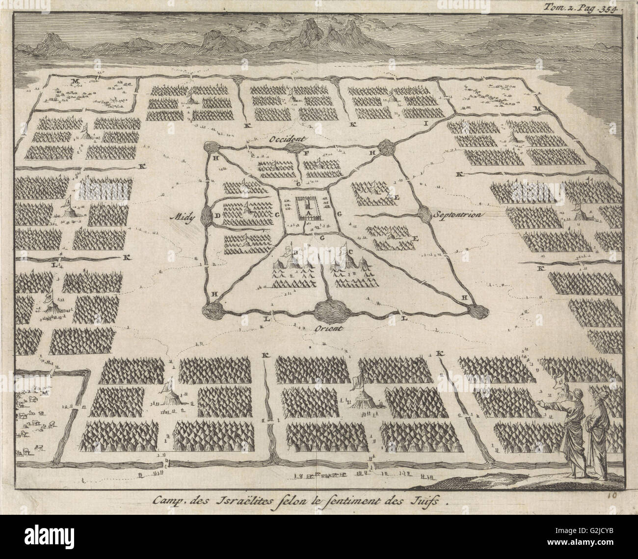 Tabernacle Surrounded By Camps Of The Twelve Tribes Of