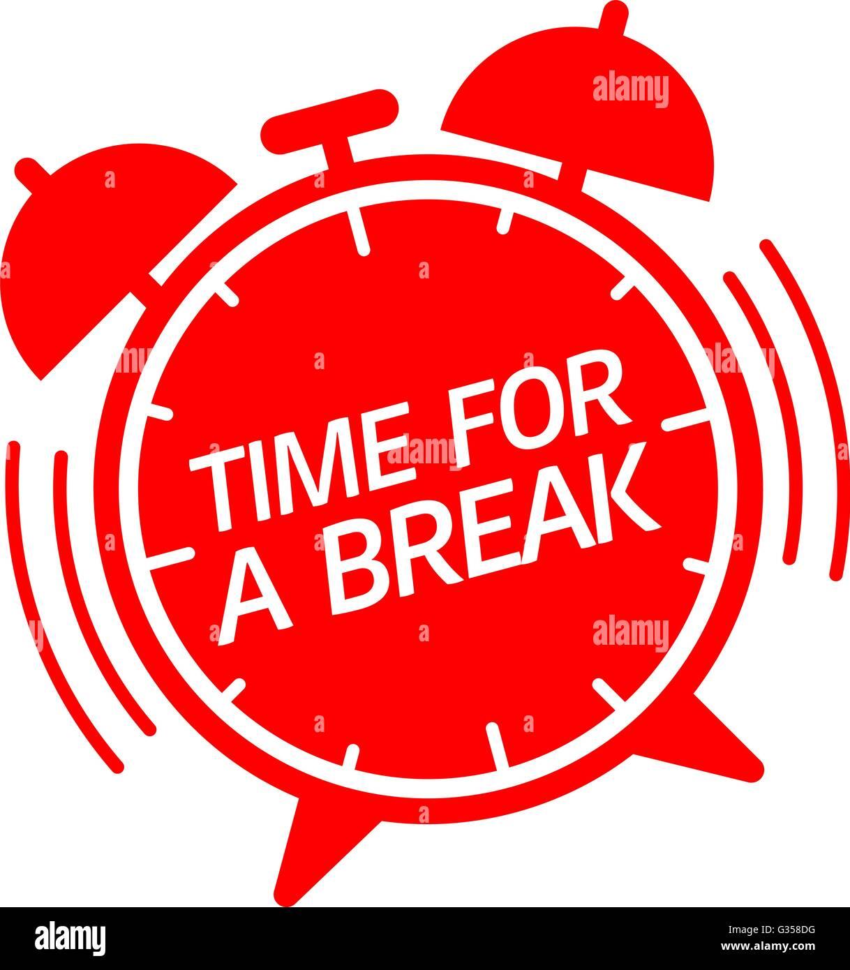 Time for a break clock alarm vector illustration Stock ... (1218 x 1390 Pixel)