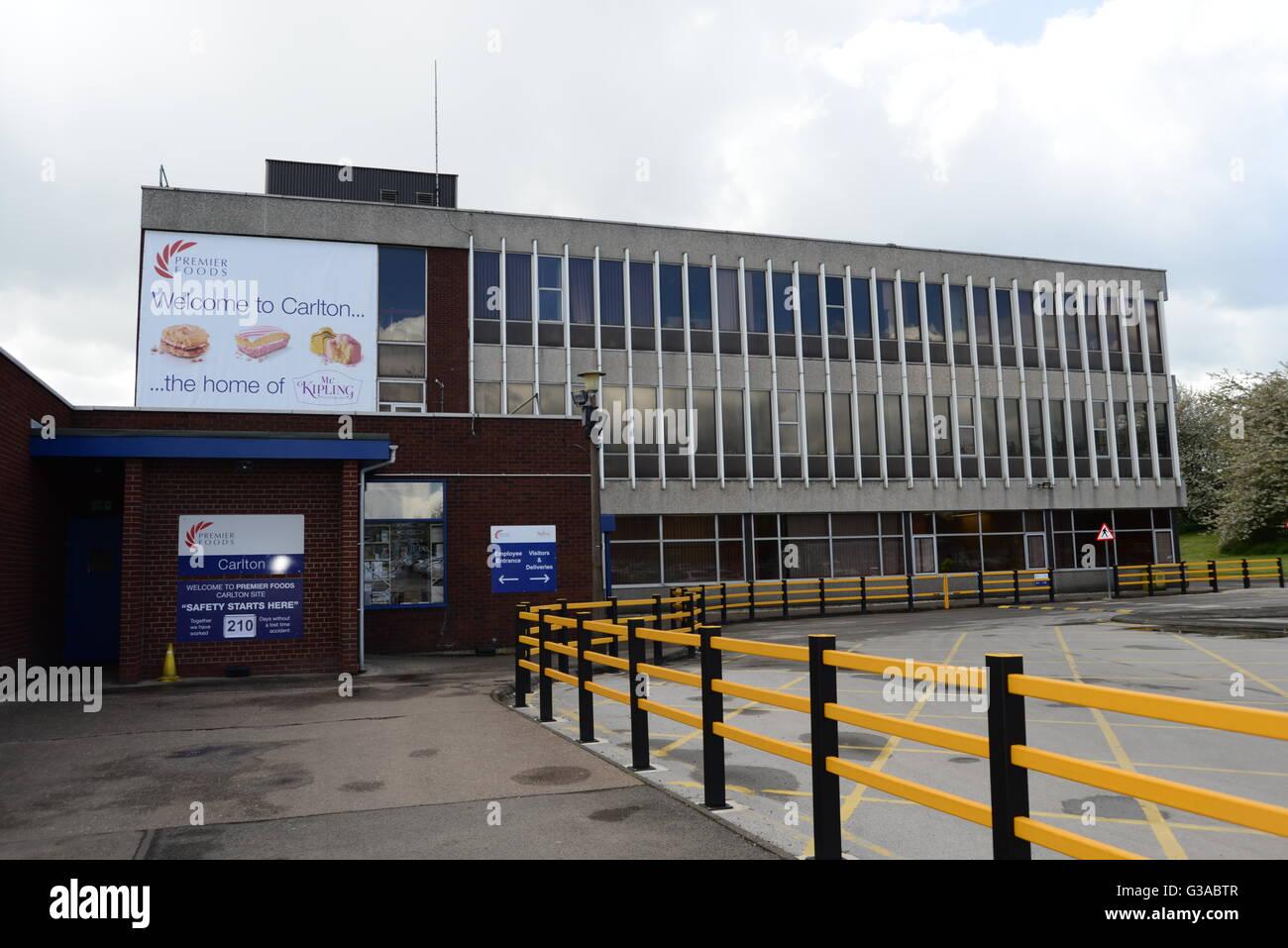 Premier Foods Factory Carlton Barnsley South Yorkshire