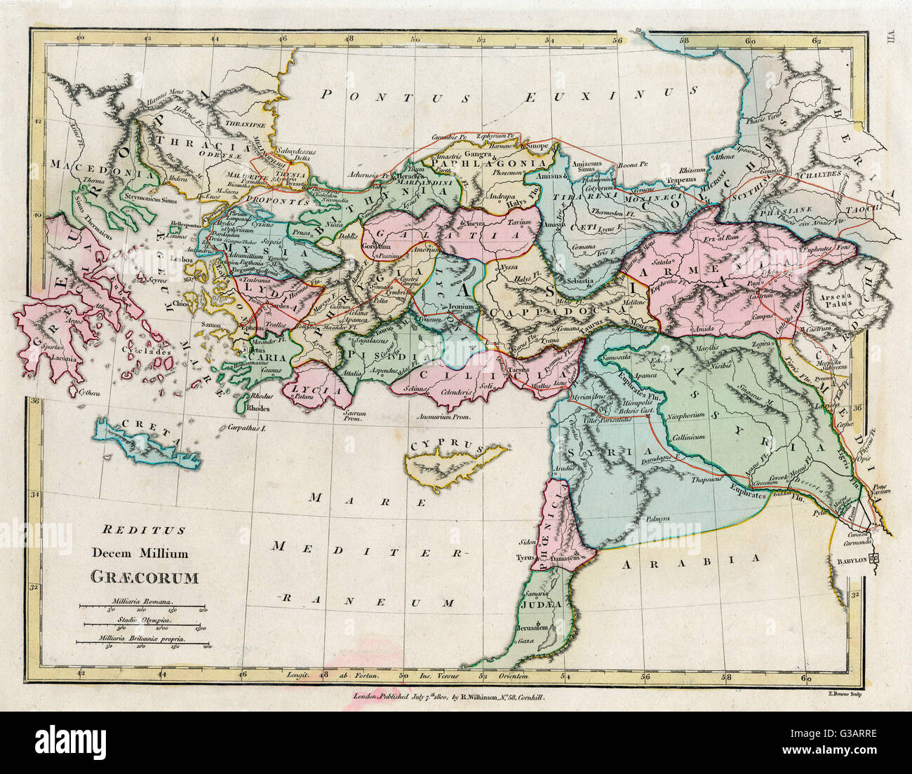 A Map Showing The Extent Of The Byzantine Empire