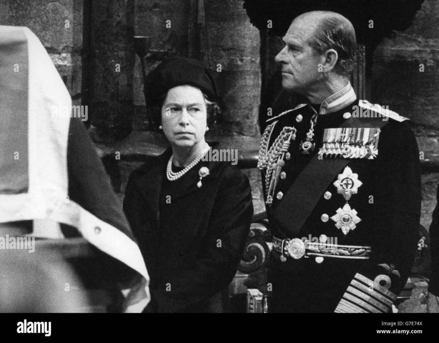 Royalty - Earl Mountbatten Funeral - Westminster Abbey ...