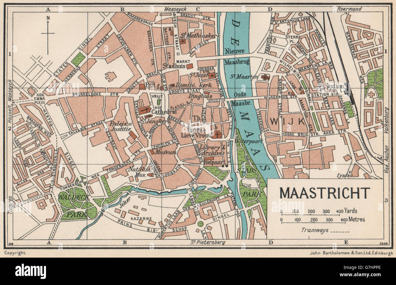 Maastricht Limburg Netherlands Small Maastricht Map