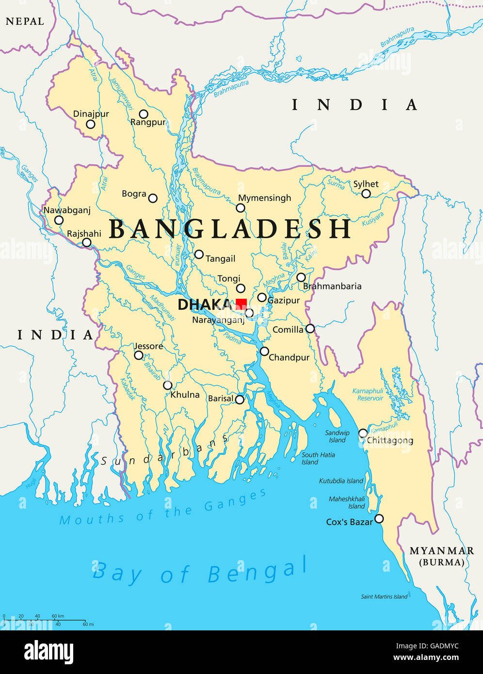 India Bangladesh Map High Resolution Stock Photography And Images Alamy