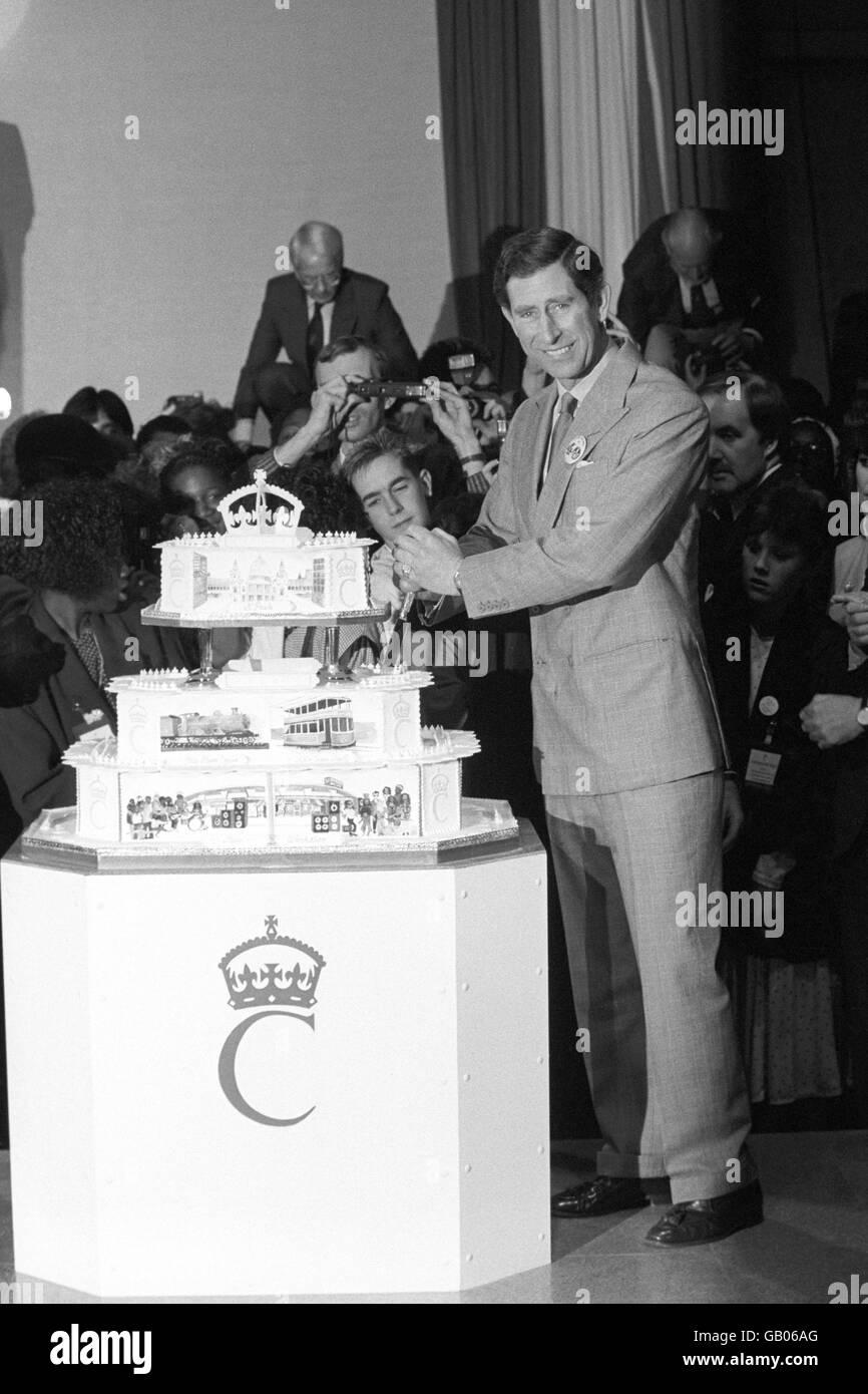British Royal Family Charles Prince Of Wales 40th Birthday Birmingham 1988 Stock Photo Alamy