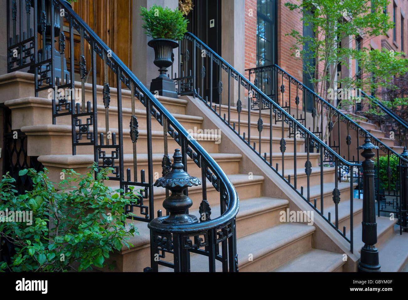 Wrought Iron Railings High Resolution Stock Photography And Images   Wrought Iron Handrail For Steps   3 Step   Grill   Forged Iron   Cast Iron   Wood Wall Mounted Stair