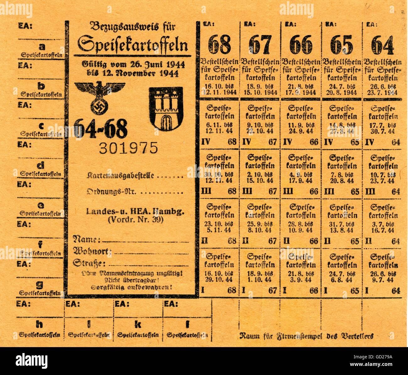 National Socialism Documents Germany Hamburg Time Of