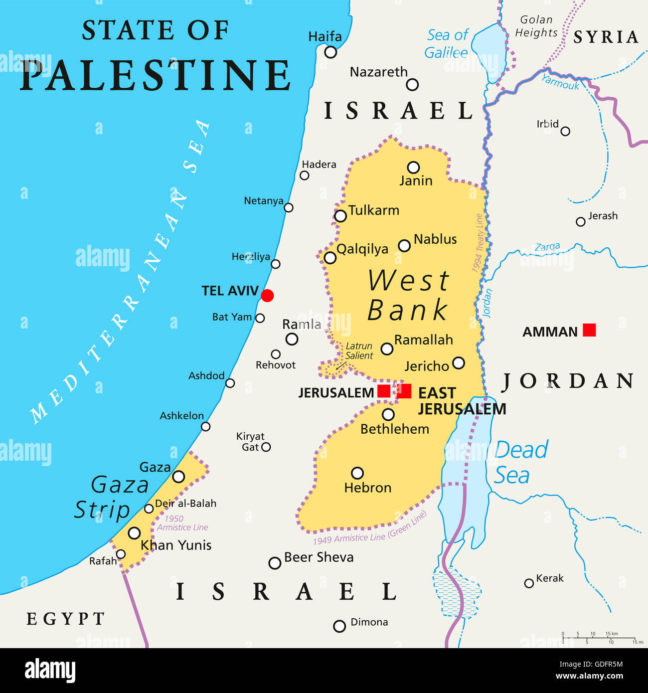 State Of Palestine With Designated Capital East Jerusalem
