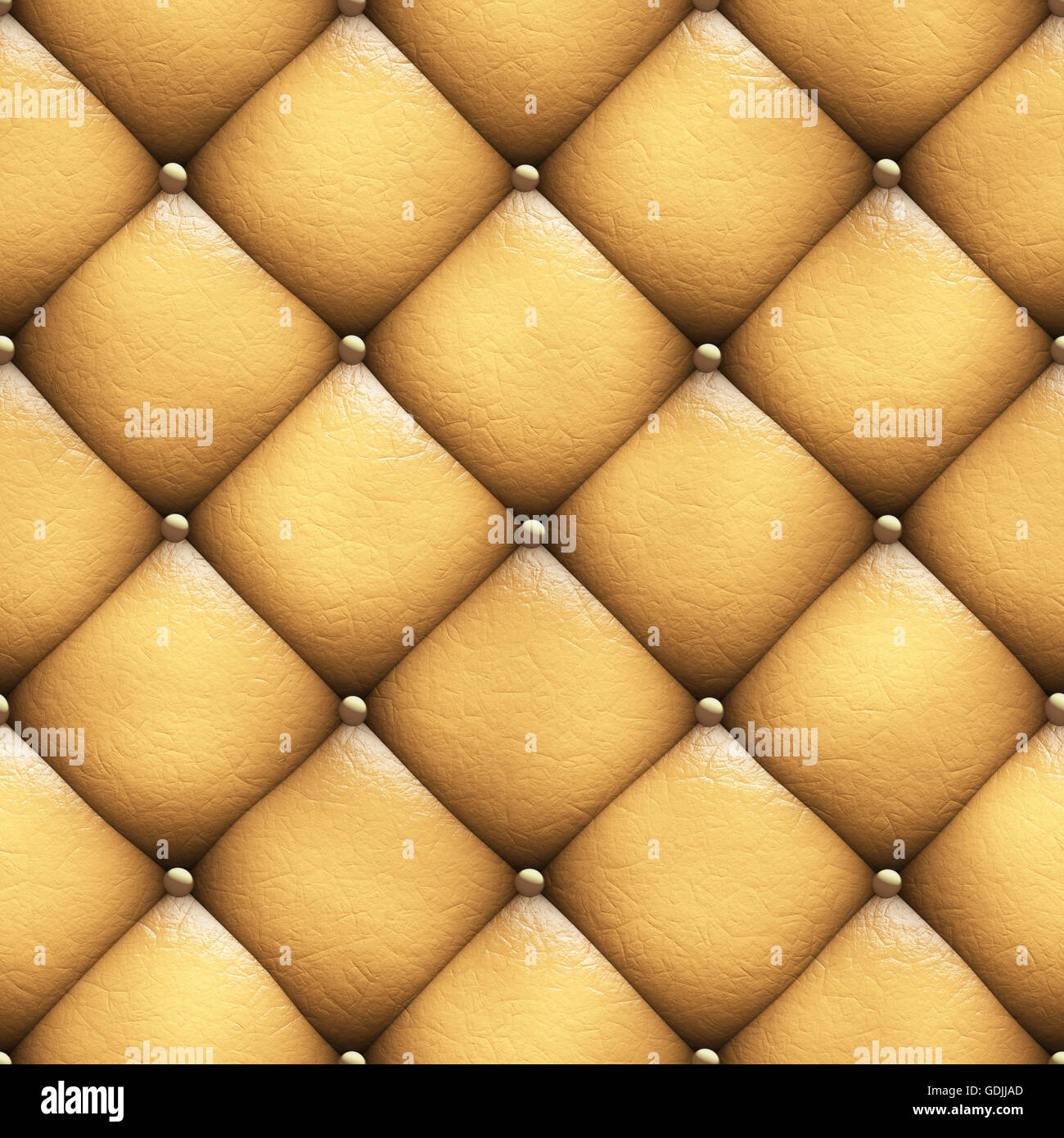 Seamless Texture Leather Upholstery Sofa 3D Illustration