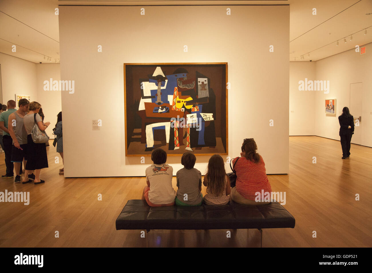 Pablo Picasso Three Musicians At The Museum Of Modern Art