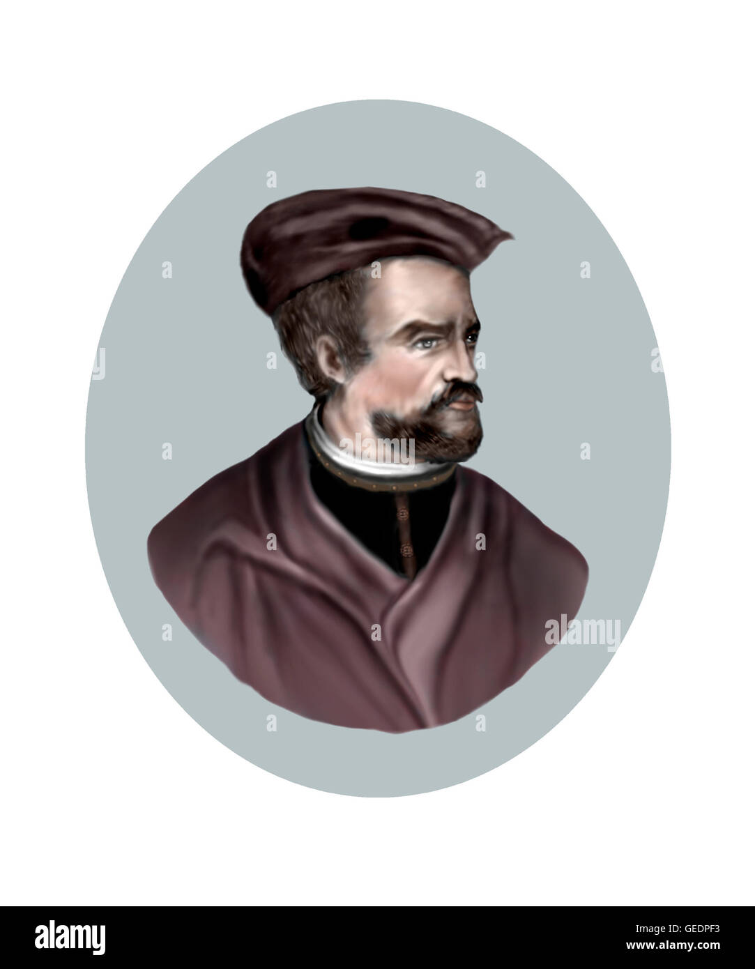 Jacques Cartier  1491 1557  Navigator  Explorer Stock Photo     Jacques Cartier  1491 1557  Navigator  Explorer