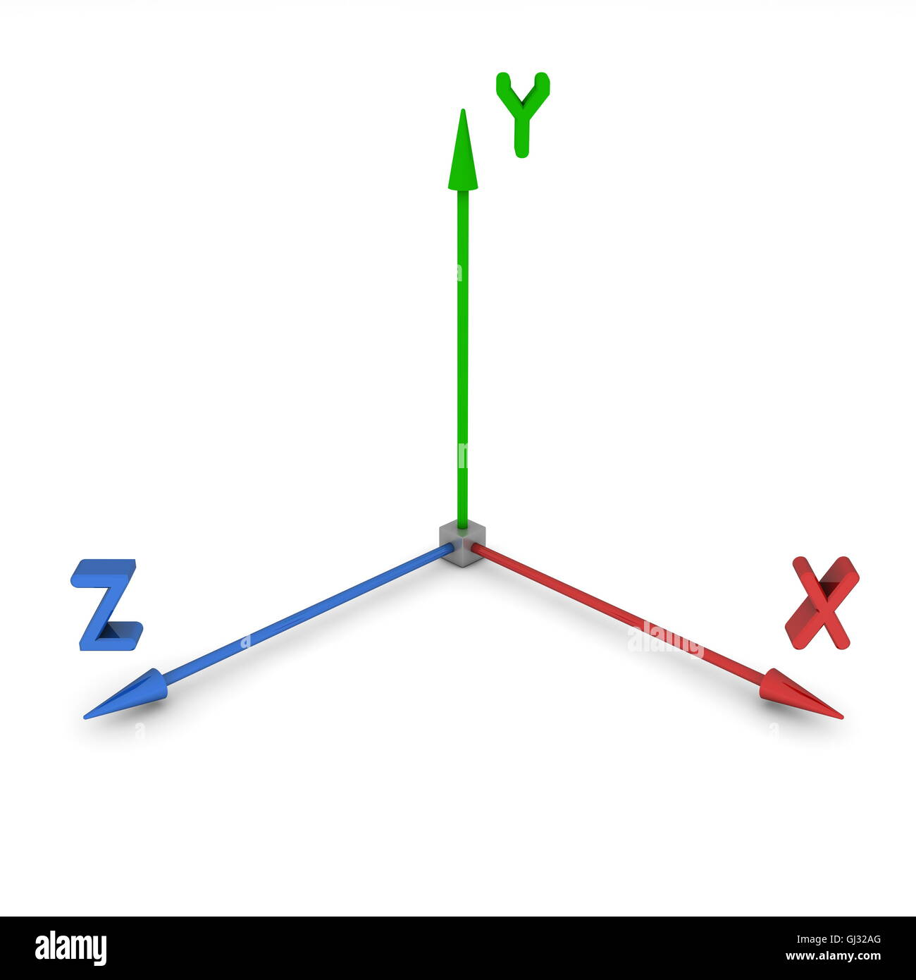 3d Space Coordinate System Xyz Stock Photo
