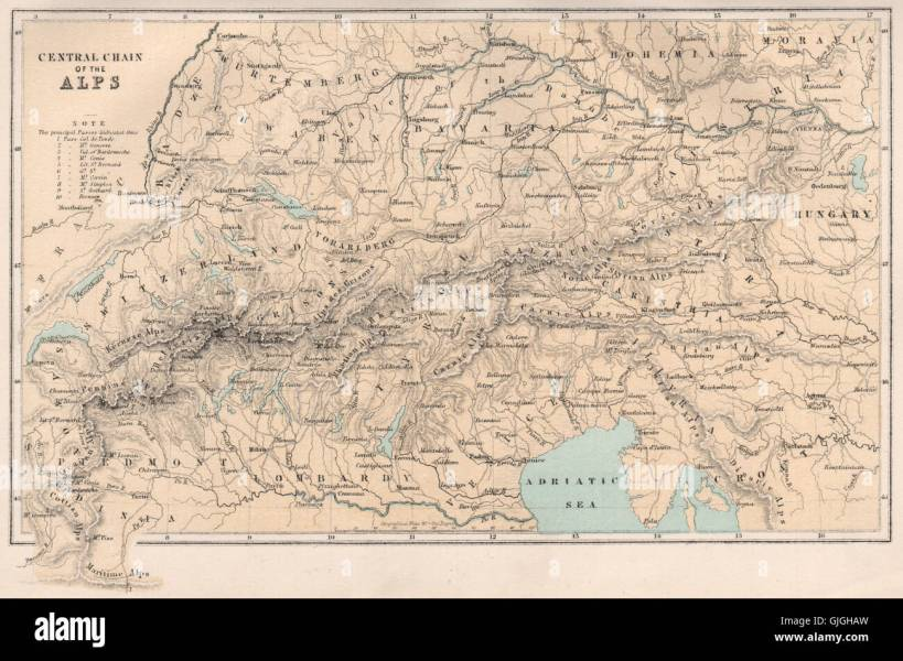 Map italy france world map full maps the alps europe switzerland italy france austria bartholomew switzerland italy france austria bartholomew 1886 old map gumiabroncs Choice Image