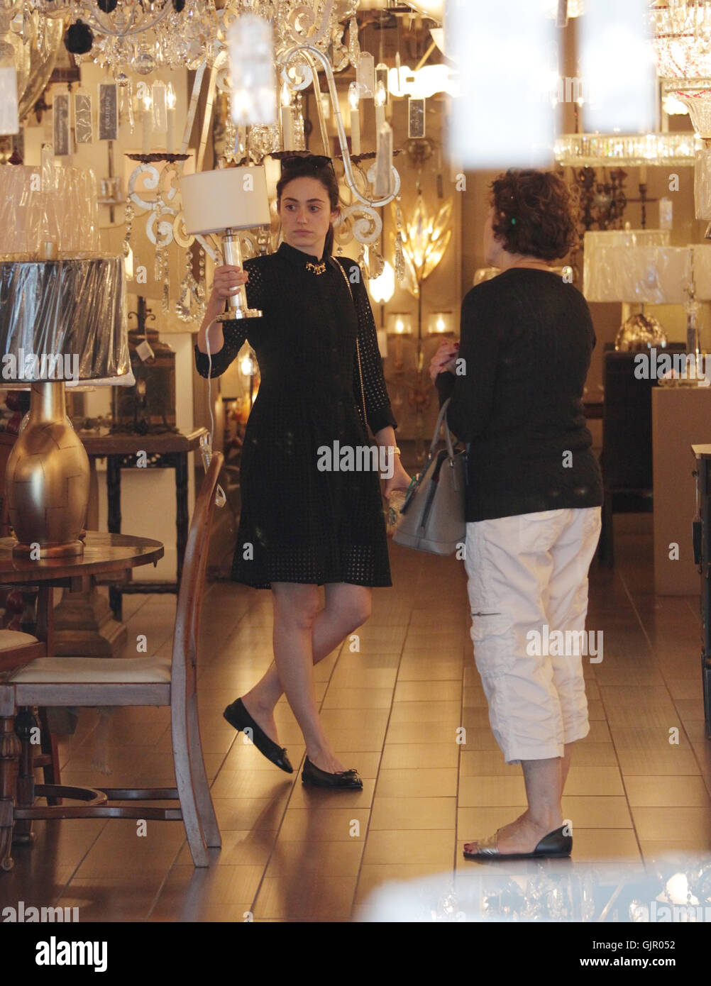 https www alamy com stock photo emmy rossum goes shopping for lamps with her mother at foundry lighting 114831054 html