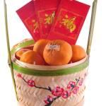 Chinese New Year Basket Stock Photo Alamy