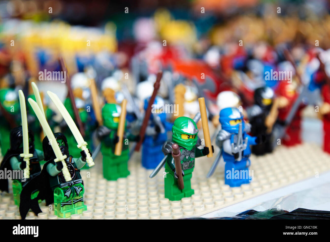 Lego For Sale Stock Photos   Lego For Sale Stock Images   Alamy rows of lego characters for sale on a stall at a collectors fair   Stock  Image
