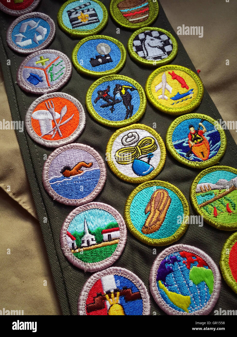 Badge Sash Scout Merit Eagle