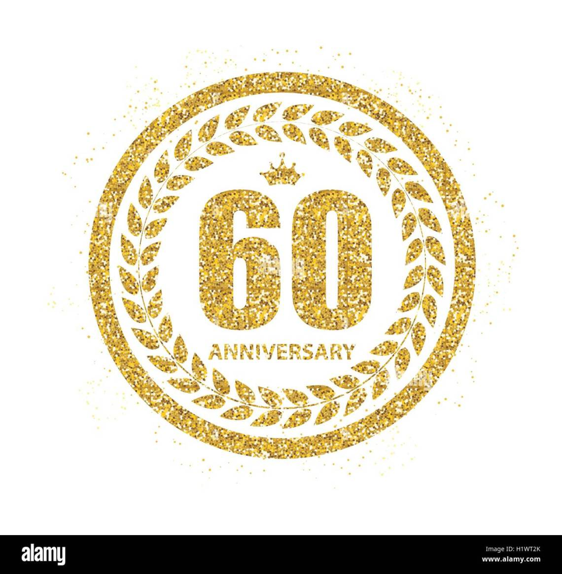 Download Template Logo 60 Years Anniversary Vector Illustration ...