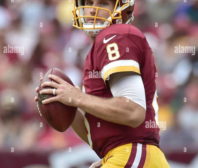 Washington Redskins Quarterback Kirk Cousins  Looks For A Receiver In First Half Action Against The Cleveland Browns At Fedex Field In Landover