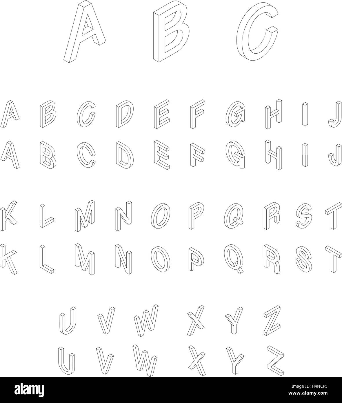 Isometric Alphabet Font Stock Vector Art Amp Illustration