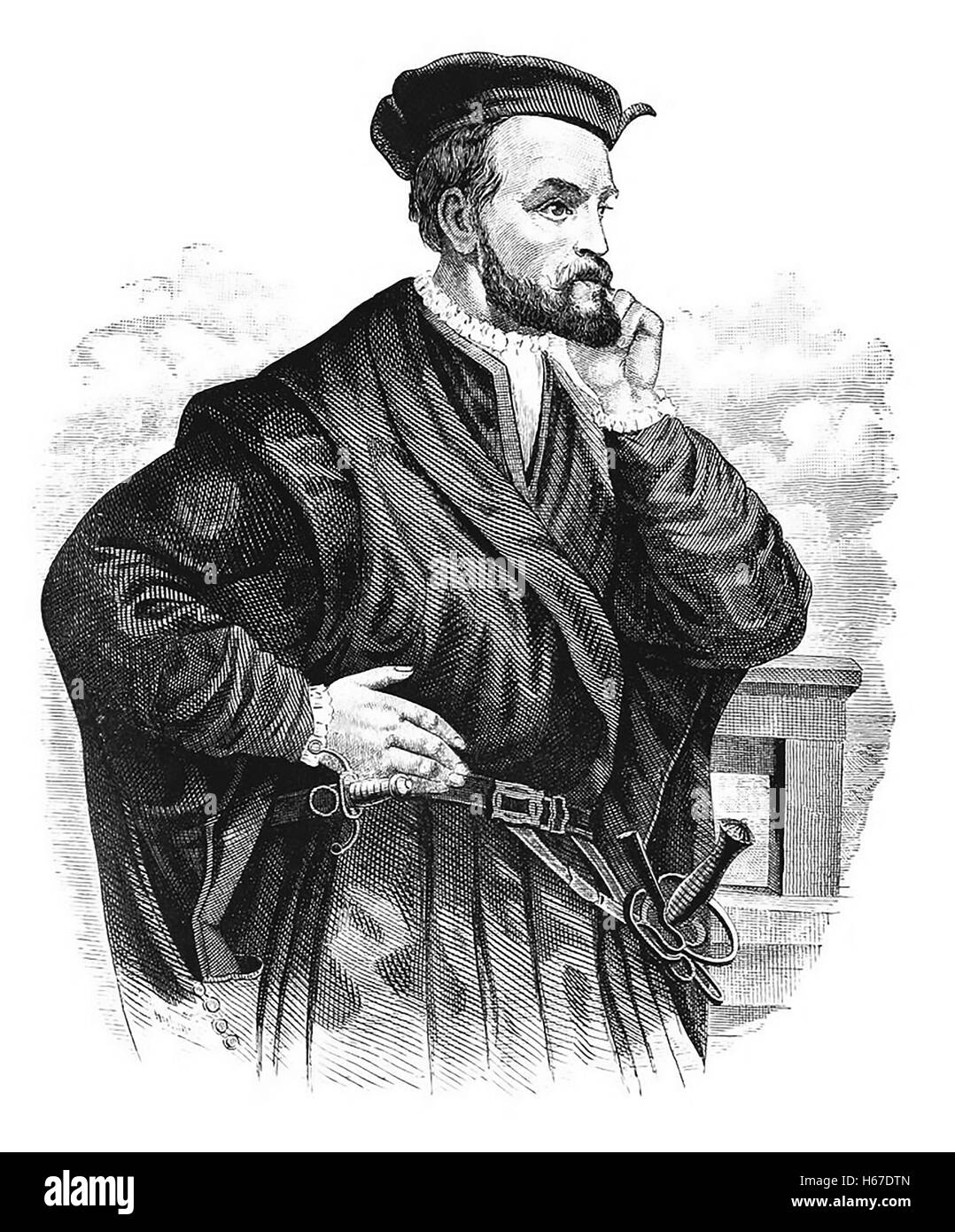 Jacques Cartier French Explorer Engraving