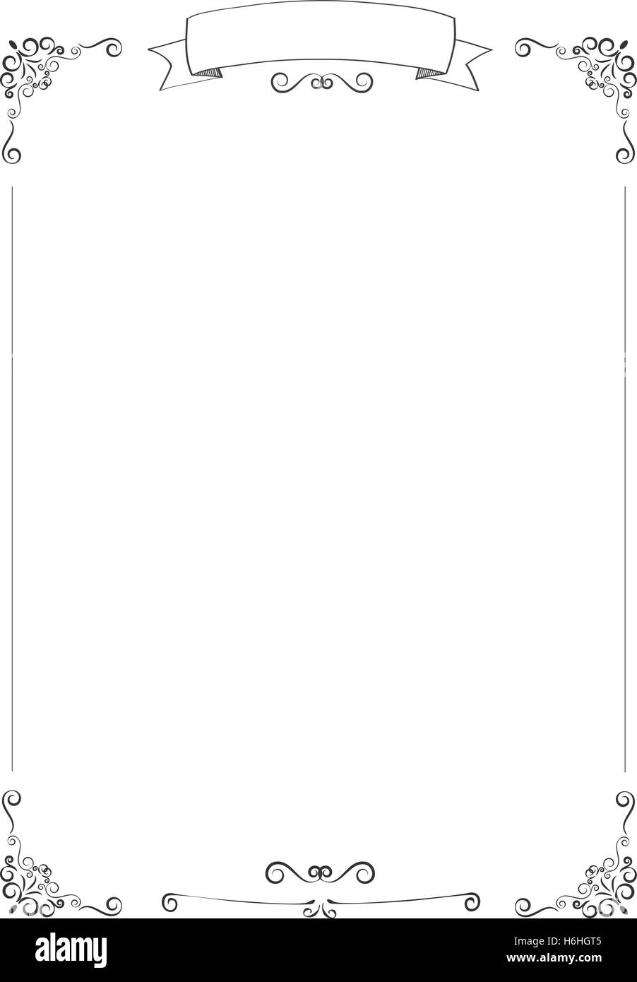 A4 Size Vertical Cafe Menu White Background With Retro