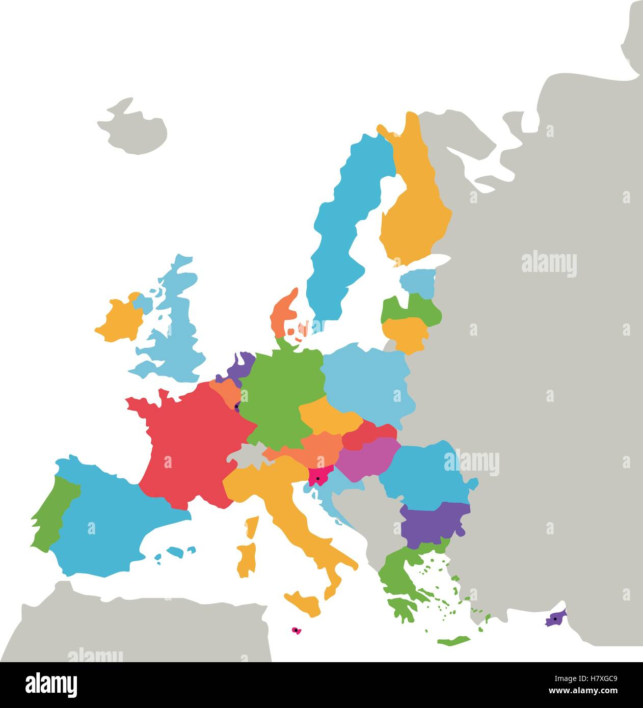 European union map icon  Europe eu country national and politics     European union map icon  Europe eu country national and politics theme   Isolated design  Vector illustration