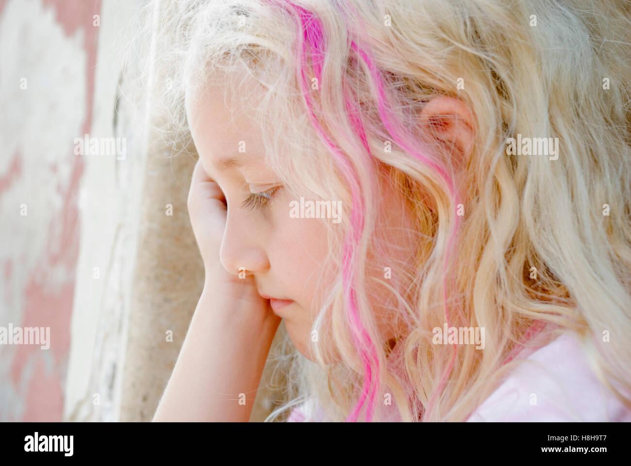 Sad 8 Year Old Girl Stock Photos Amp Sad 8 Year Old Girl