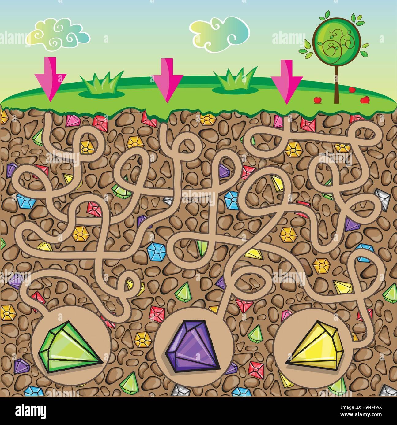 Alien Preschool Maze Worksheet