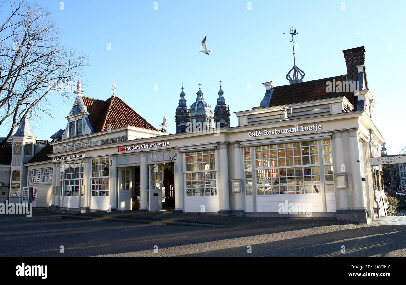 amsterdam tourist office on stationsplein square in central amsterdam netherlands