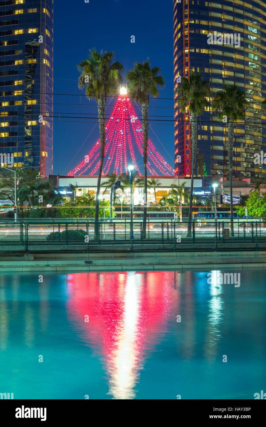 Building San Diego Urban Night Light California