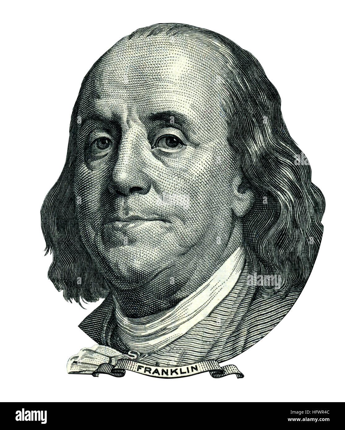 Portrait Of U S Statesman Inventor And Diplomat